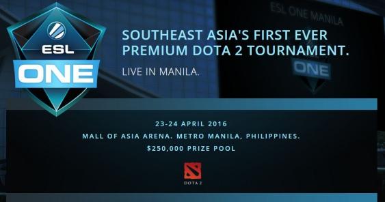 ESL picks Manila for first DOTA 2 tournament in Southeast Asia