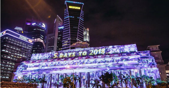 Marina Bay Singapore Countdown 2018 launches light projection show