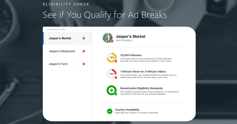 Image result for Facebook ad break